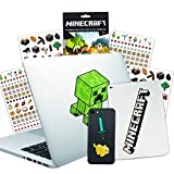 Minecraft Laptop Stickers Ultimate Set - Bundle Includes 10 Premium Minecraft Decals for Room Decor, Car, MacBook, Phone and 300 Minecraft Stickers