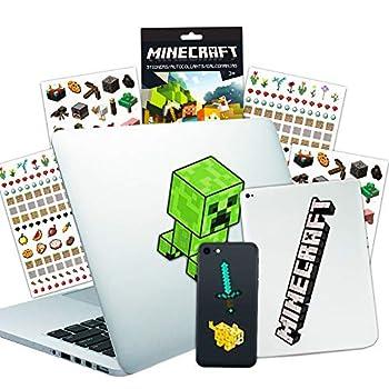 Minecraft Laptop Stickers Ultimate Set - Bundle Includes 10 Premium Minecraft Decals for Room Decor Car MacBook Phone and 300 Minecraft Stickers