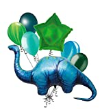 7 pc Apatosaurus Dinosaur Shape Balloon Bouquet Party Decoration Happy Birthday