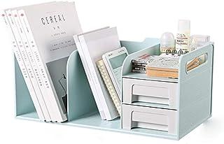 Desk Supplies Organizer, Double Drawer Design Magazine File Box Large-capacity Magazine Holder Easy To Move Plastic Materi...