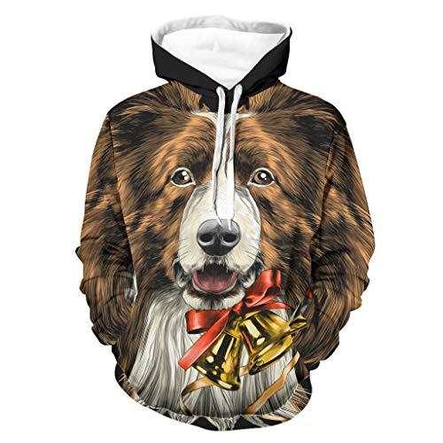 Sudadera con capucha para hombre, cuello redondo, transpirable, color blanco, 4XL