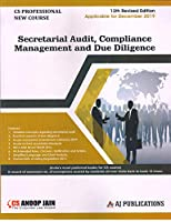 Secretarial Audit, compliance Management and Due Diligence (Applicable for December 2019) 13 Revised Edition