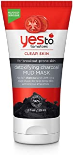 Yes To Tomatoes Facial Mud Mask w/ Detoxifying Charcoal - Facial Mask for Acne Prone Skin | 2 ounce