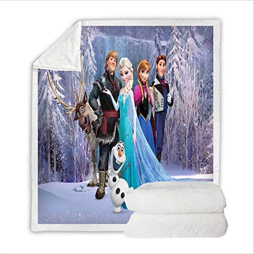 Fgolphd Manta de forro polar con diseño de Frozen de Disney, para la oficina, el sofá, la cama, el salón, el dormitorio (9,150 x 200 cm)