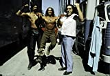 Posterazzi Poster Print Collection Arnold Schwarzenegger, Wilt Chamberlain, Andre the Giant on the Set of Conan the Destroyer Photo, (30 x 24), Varies
