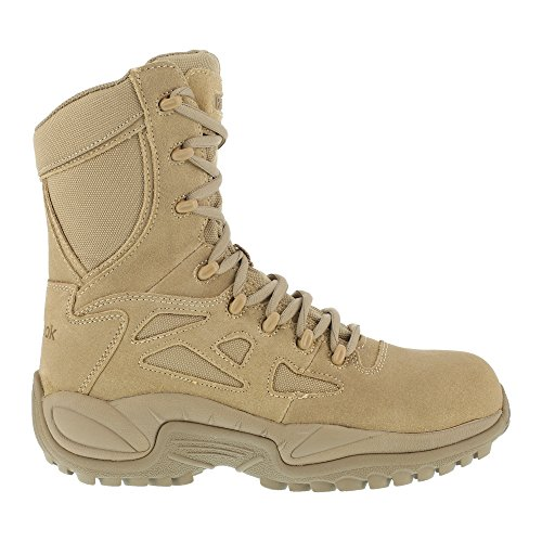 [WARSON] Reebok Women's Stealth 8″ Lace-Up Side-Zip Work Boot Composite Toe – Rb894
