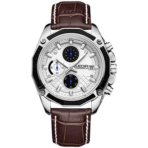 Orologi da uomo, JEDIR 5271 3ATM Impermeabile al quarzo con movimento a...