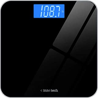 Best Innotech Digital Bathroom Scale with Easy-to-Read Backlit LCD (Black) Review