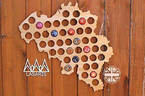 Belgien Bier Cap Karte
