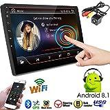PolarLander Radio del Coche Sistema Android de 9 Pulgadas Estéreo automático 2.5D Pantalla capacitiva Bluetooth WiFi GPS Quad Core SWC FM BT USB con cámara de visión Trasera