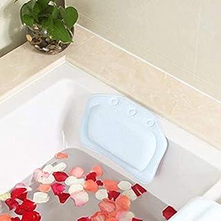 YXHMdd Waterproof Bath Pillow , Bathtub Headrest Cushion with Non-Slip Suction Cups,for A Bubble Bath, Head Neck Back Shoulder Support