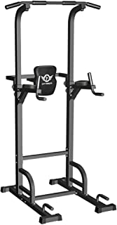 CITYBIRDS Power Tower Dip Station Pull Up Bar for Home Gym Strength Training Workout..