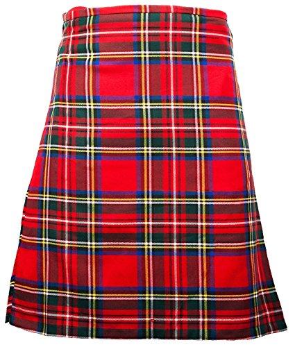 I Luv Ltd Gents Scottish Kilt Full 8 Yard 24in Drop Waist 28-30 Colour Stewart Royal Tartan