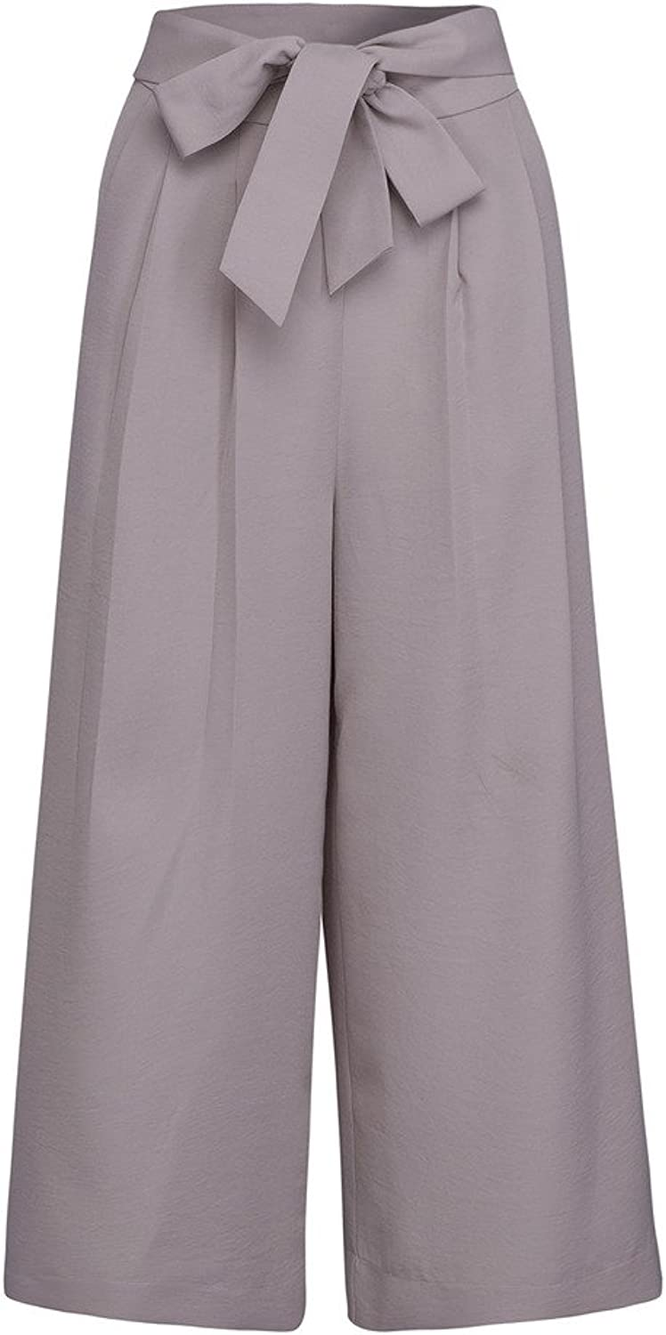 CHARLES RICHARDS CR Women's Fashion High Waist Loose Wide Leg Palazzo Pants