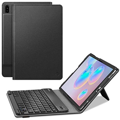 """Fintie Keyboard Case for Samsung Galaxy Tab S6 10.5"""" 2019 (Model SM-T860/T865/T867), [Patented S Pen Slot Design] Folio Stand Cover with Removable Wireless Bluetooth Keyboard, Black"""
