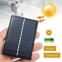 ソーラーパネル バッテリー携帯電話充電器太陽光発電パネル用6V 1WポータブルミニソーラーパネルソーラーシステムモジュールDIY AiHua Huang (Color : 5W 5V, Size : ブラック)