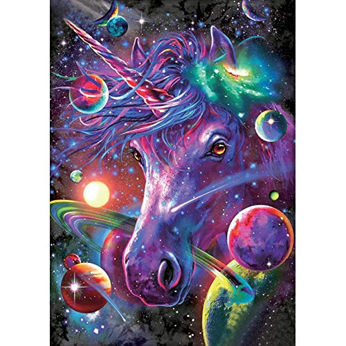 DIY Paint by Numbers, Canvas Oil Painting Kit for Kids & Adults, Drawing Paintwork with Paintbrushes, Acrylic Pigment (Frameless Unicorn)