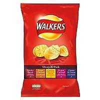 Walkers Crisps - Meaty Variety (20x25g) 歩行者のポテトチップス - 肉のさまざまな( 20X25G )