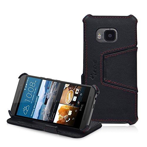 MANNA UltraSlim Hülle für HTC One M9 | Tasche Aufstellbar | Hülle aus Nappaleder