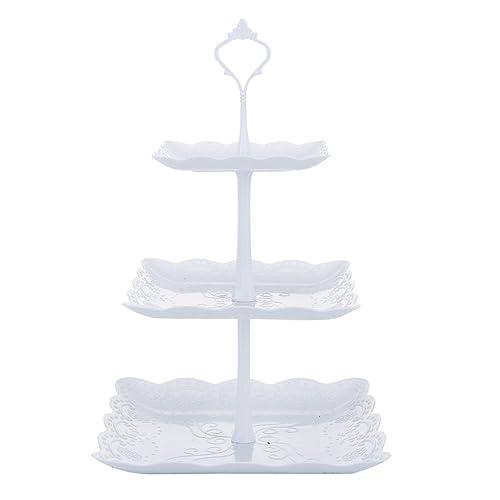 Startet Plato de Frutos Secos - Plaza apilada Fiesta Cupcake y Torre de Postre - White