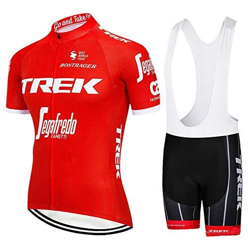 TOPBIKEB Completo Abbigliamento Ciclismo Uomo Estive Magliette Ciclismo Maniche Corte Pantaloncini Ciclismo Uomo