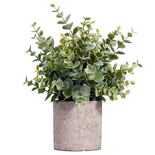 Künstliche Topfpflanze, künstlicher Bonsai-Tisch, Simulations-Dekor mit grauem Topf, für Zuhause, Büro, Hotel, fügen Sie Ihrem Leben mehr Schönheit hinzu.