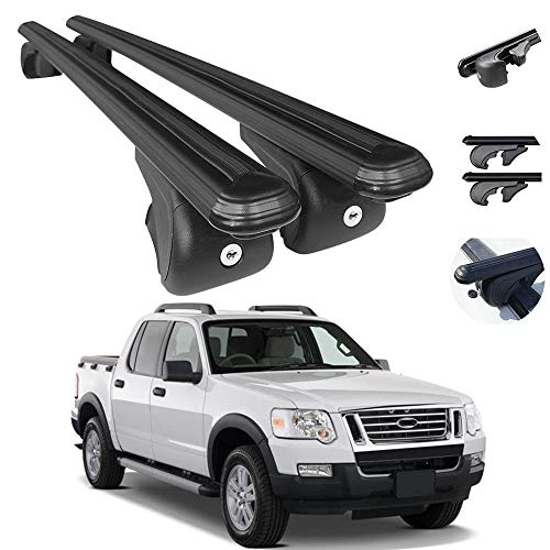 OMAC Roof Rack Cross Bars Lockable Luggage Carrier Fits Ford Explorer Sport Trac...