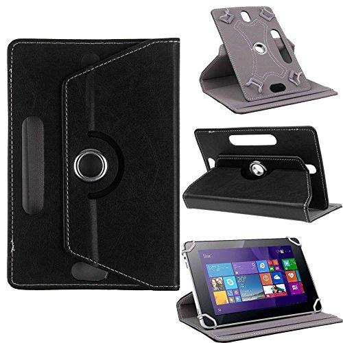 Nauci Odys Score Plus 3G Tablet Schutz Tasche Hülle Hülle Cover Schutzhülle Bag, Farben:Schwarz