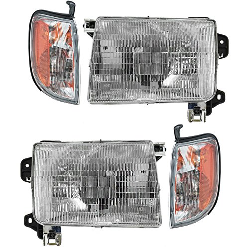 Headlight Corner Light Lamp LH RH Left Right Kit Set of 4 for 98-00 Frontier