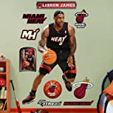 heat fathead - (44x76) Lebron James - Miami Heat 2012 Black Fathead Wall Decal