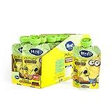Hero Baby Mi Fruta - Bolsita de Fruta con Naranja, Plátano, Pera y Galleta, Sin Azúcares Añadidos, para Bebés a Partir de los 12 Meses - Pack de 18 x 100 g