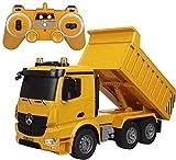 QVVQ 6CH Remote Dump Lega Controllo Camion Grande discarica di ingegneria del Camion Veicoli caricati di Sabbia RC Auto Giocattolo 2.4G di Telecomando RC del Camion for Il Regalo Bambini