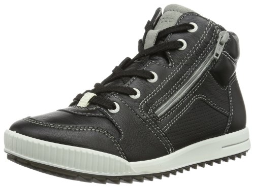 ECCO Junior Street Dynasty/Dynasty Firefly/Su 733593 Jungen Sneaker, Schwarz (Black/WILD Dove 56601), EU 33