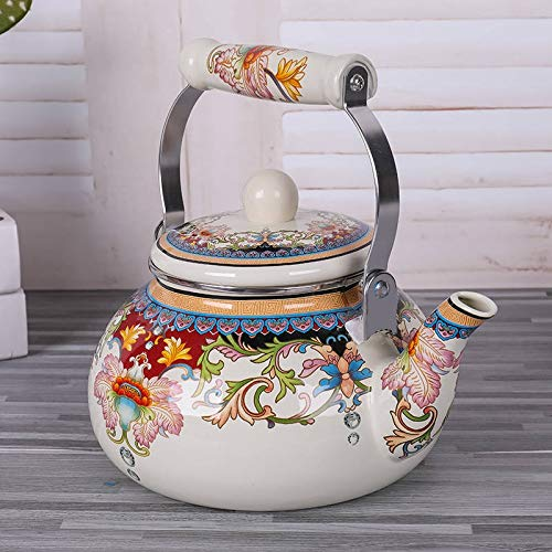 2.5 Liter Enamel Teapot Kettle Whistling Kettle Teapot Jug Kettle Teapot Home Gas Gas Induction Cooker Enamel Pot Water Carafe