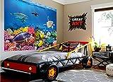 GREAT ART XXL Poster Aquarium Meerestiere | farbenfrohe Unterwasserwelt Meeresbewohner Ozean Fische Riff Delphin Schildkröte Korallenriff | Wandbild Fotoposter Wanddeko Fototapete | 140 x 100 cm - 6