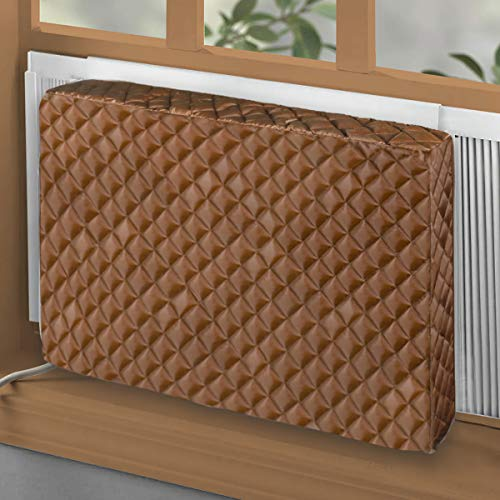 BJADE'S Indoor Air Conditioner Cover for Window AC Units,Double Insulation Inside Covers Large Size (28L x 20H x 4D inches)