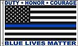 AZ FLAG Flagge BLM Blue Lives Matter 150x90cm - Polizei Leben ZÄHLEN Fahne 90 x 150 cm - flaggen Top Qualität