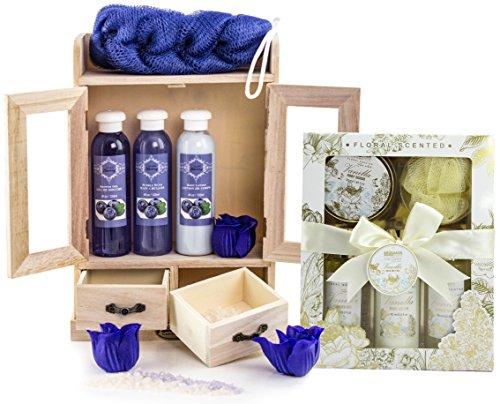 BRUBAKER Cosmetics Bade- und Pflegeset Blueberry & Vanilla Rose Minze 15-teilig