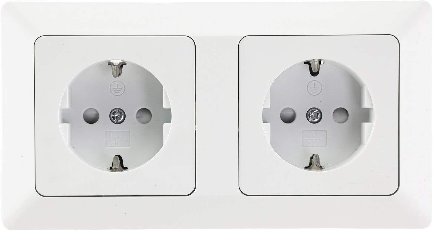 Milos - Interruptor para enchufes, serie empotrada, 230 V, color blanco mate: Amazon.es: Bricolaje y herramientas