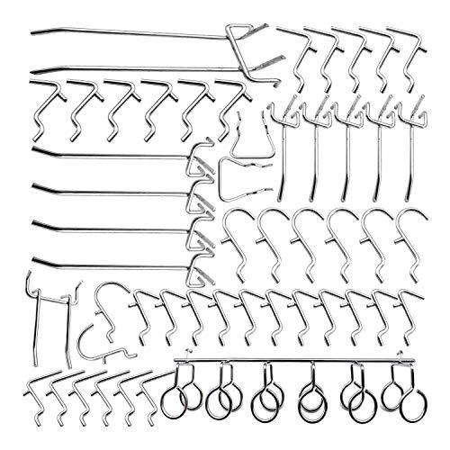 Huante - Juego de ganchos de panel perforados de 50 piezas con...