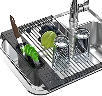 Enkrio SUS304 Over The Sink Dish Stainless Steel Drying Rack
