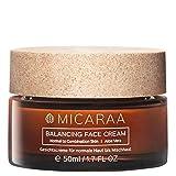 MICARAA Aloe Vera Feuchtigkeits-Creme Gesicht, Vegane Gesichtscreme Für Normale Bis Mischhaut, Anti-Aging Gesichtspflege Mit Bio-Ölen, Naturkosmetik Deutschland