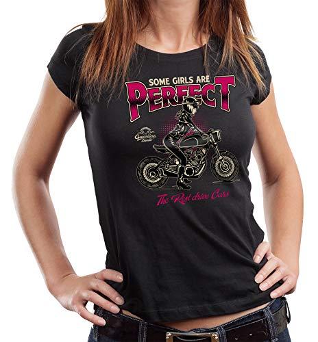 Gasoline Bandit Damen Biker T-Shirt: Some Girls Are Perfect L