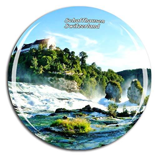 Weekino Svizzera Sciaffusa Cascata Calamità da frigo 3D Cristallo Bicchiere Tourist City Viaggio Souvenir Collezione Regalo Forte Frigorifero Sticker