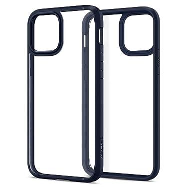 Spigen Ultra Hybrid Back Cover Case Designed for iPhone 12   iPhone 12 Pro - Navy Blue