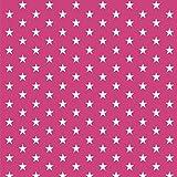 babrause® Baumwollstoff Sternchen Pink Webware Meterware