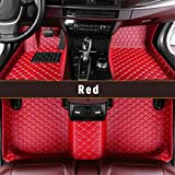 Custom for 95% of Car Models Car Floor Mats Full Covered Leather Front and Rear Carpets All Weather Protection Performance Floor Liner Red