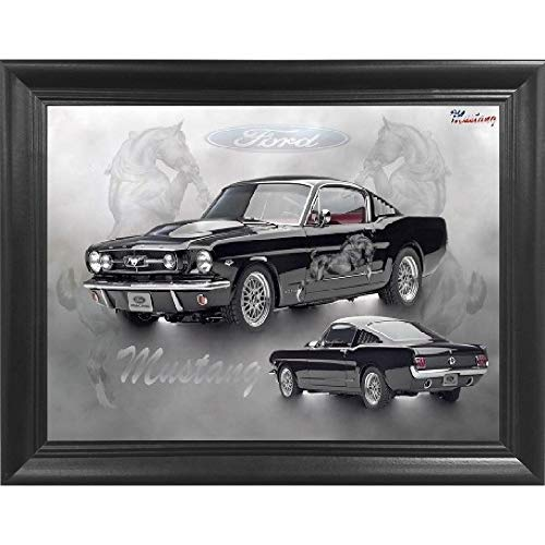 Ford Mustang 3D Poster Wall Art Decor Framed Print | 18.5x14.5 | Lenticular Posters & Pictures | Memorabilia Gifts for Guys & Girls Bedroom | Muscle Car Enthusiast & Fan Art Picture & Decorations