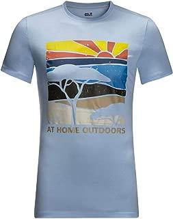 Jack Wolfskin Mens Savannah T-Shirt - Cool Water - XL