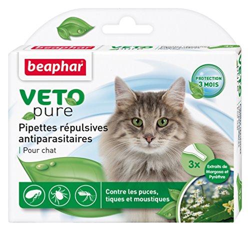 Beaphar Pipetas antiparasitarias Vetopure para Gatos, 3 Unidades de 1 ml